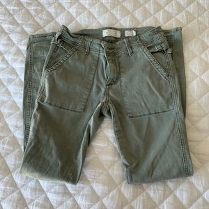 Olive Green Anthropologie Pants
